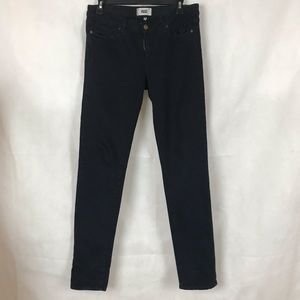 Paige Skyline Skinny Jeans Size 30 Black